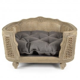 Sofa Double Cannage Gris