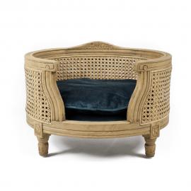 Fauteuil de Luxe Louis XVI pour Chien en Bois Naturel