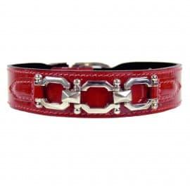 Georgia Red Patent Collar