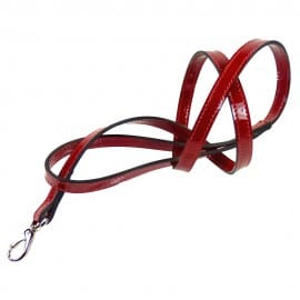 Red Patent Leash