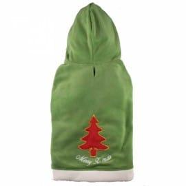 Sweat de Noël Vert et Rouge pour Chien de Luxe